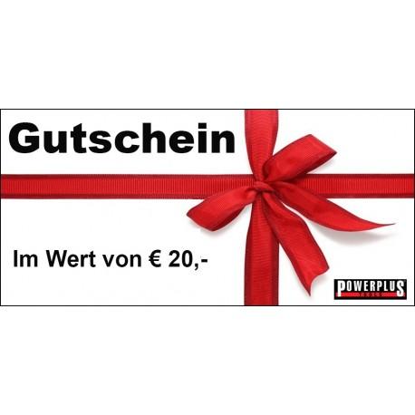Geschenkgutschein 20 EUR