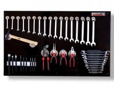 Werkzeugwand schwarz 100 x 61 cm bestückt mit Werkzeug, Magnetische Haken + Werkzeughalter