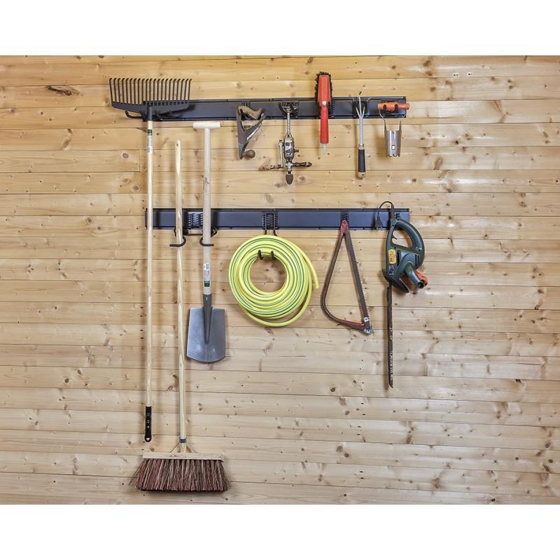 Wandhaken ger tehalter 22 x 9 cm gartenger te aufhangung aufbewahrung ger tehalterung - Aufbewahrung gartengerate ...