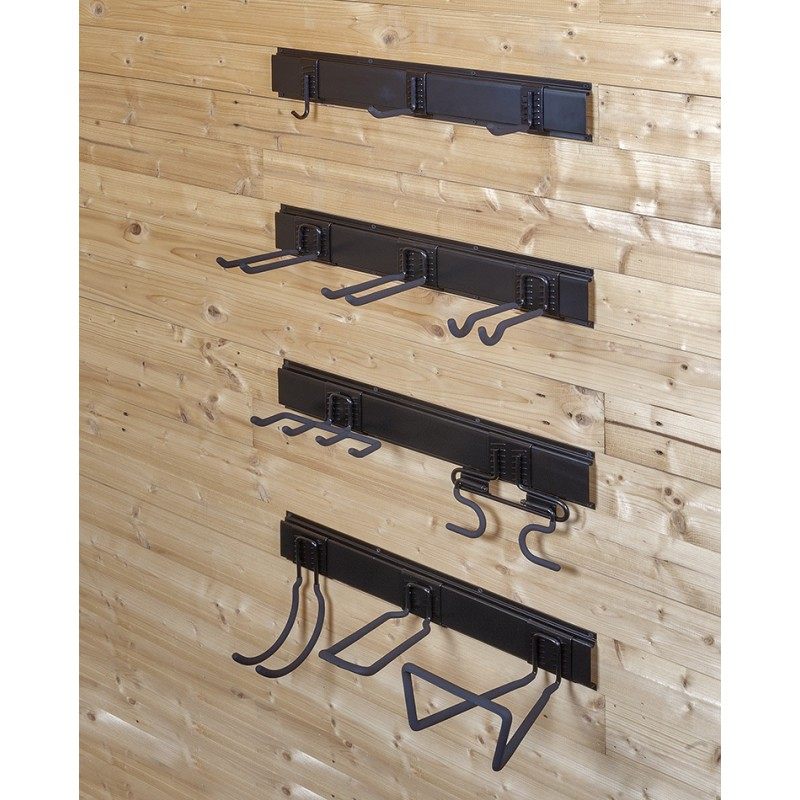 doppelwandhaken ger tehalter 6 5 x 20 cm gartenger te aufhangung aufbewahrung. Black Bedroom Furniture Sets. Home Design Ideas
