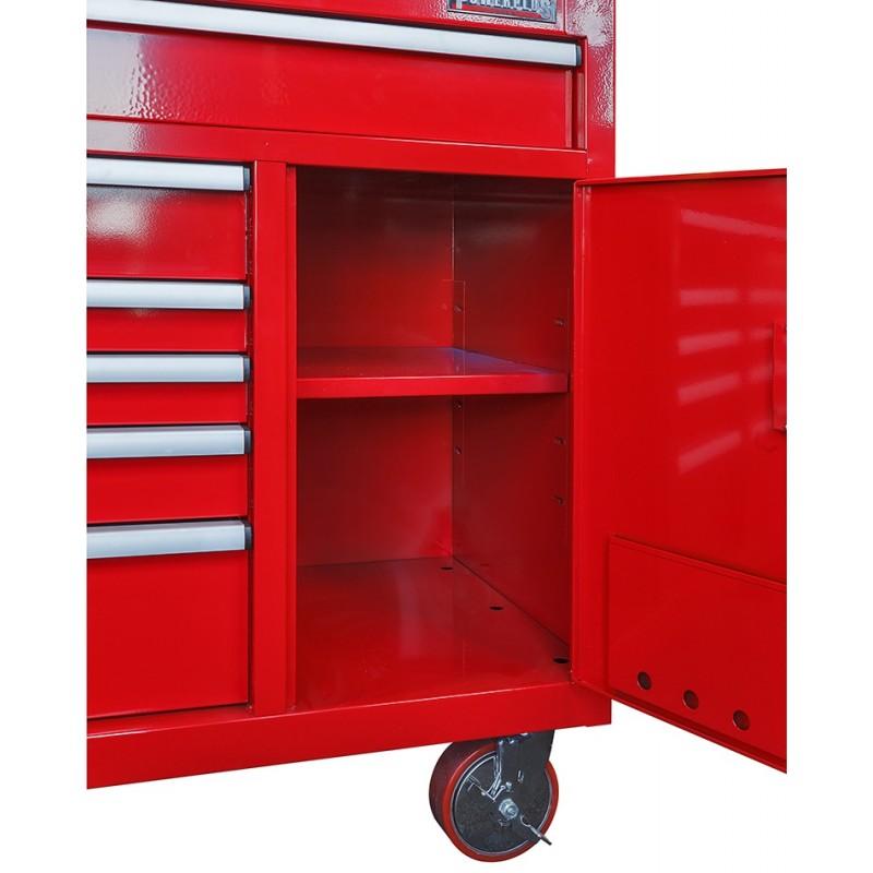 profi werkstattwagen 10 schubladen werkzeugschrank rot mit einzelarretierung powerplustools gmbh. Black Bedroom Furniture Sets. Home Design Ideas