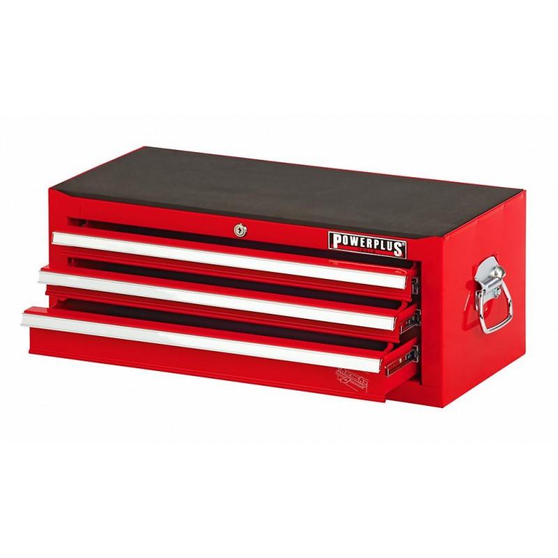 werkzeugkiste rot 3 schubladen mit einzelarretierung powerplustools gmbh. Black Bedroom Furniture Sets. Home Design Ideas