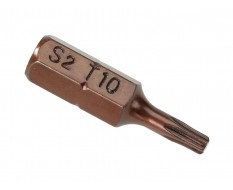 T10 Torx Bit Set 25 mm aus S2 Stahl - 40 Stk