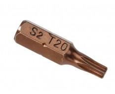 T20 Torx Bit Set 25 mm aus S2 Stahl - 40 Stk