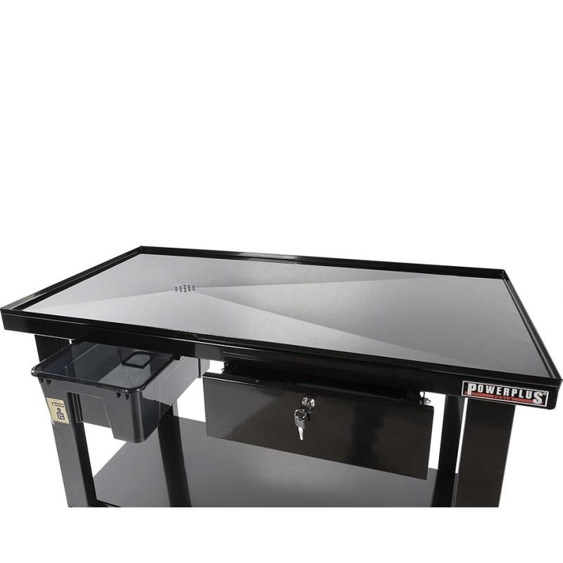 mobiler montagetisch mit rollen 120 x 64 cm werkbank mit. Black Bedroom Furniture Sets. Home Design Ideas