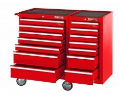 Werkstattwagen-set Rot 14 Schubladen