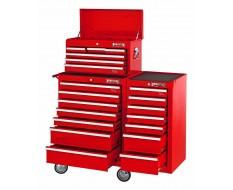 Werkstattwagen-Set Rot 20 Schubladen