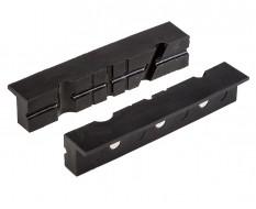 Schraubstock Schutzbacken mit Rillen - Schonbacken Magnetbacken Kunststoff 15,5 x 3 cm . Magnetisch.