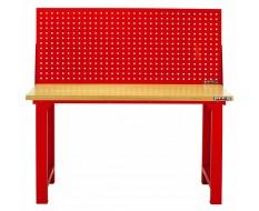 Werkbank 152 x 65 x 85 cm. Rot mit Multiplexplatte