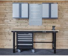 Werkstatt Set WP 8 - Werkbank - Hängeschrank - Werkstattwagen - Werkzeugwand