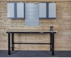 Werkstatt Set WP 9 - Werkbank - Hängeschrank - Werkzeugwand