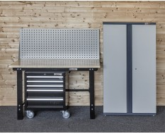 Werkstatt Set WP 10 - Werkbank - Werkstattschrank - Werkstattwagen - Lochwand