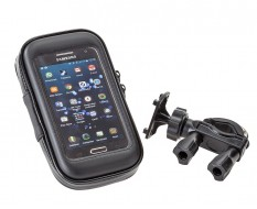 Fahrrad Handytasche mit Handyhalterung - GSM 4 inch - Lenkerhalterung für Smartphone Staub und Wasserabweisend 135 x 70 x 23 mm.