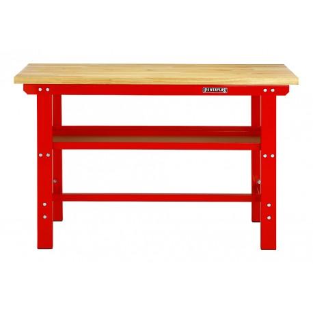 Arbeitstisch Rot 150 cm Hartholzplatte