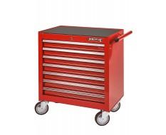Werkstattwagen Rot mit 7 Schubladen und Einzelarretierung - Niedrige Ausführung
