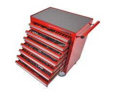 Werkstattwagen 7 Schubladen - davon 7 Schubladen gefüllt - bestückt - niedrige Ausführung