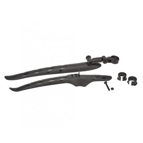 Rennrad Kotflügel Set Kunststoff für Vorderrad und Hinterrad 2-teilig