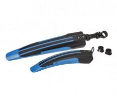 Fahrrad Kunststoff Schutzblech Set Blau/Schwarz für vorne u. hinten - MTB - Rennrad - Fahrrad Kotflügel Set 2-teilig