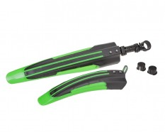 Fahrrad Kunststoff Schutzblech Set Grün/Schwarz für vorne u. hinten - MTB - Rennrad - Fahrrad Kotflügel Set 2-teilig
