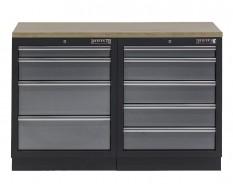 Werkbank mit Multiplexplatte und 9 Schubladen - 136 cm