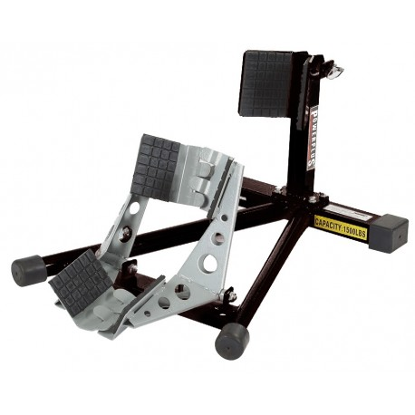 Radklemmer / Radwippe für schmale Räder SCHWARZ inkl Satz Spanngurte, Spanngurte immer nutzen
