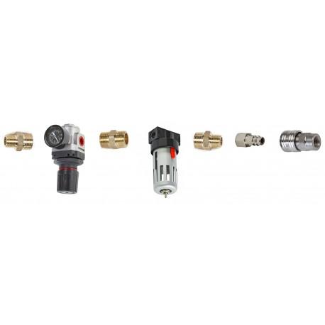Luftanschluss Set für Strahlkabine - Wasserabscheider + Druckregelventil für Sandstrahlkabine
