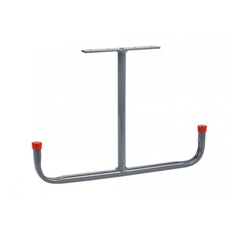 Deckenhaken T-Form Stahl verchromt 295 x 430 mm. Wandhaken – Leiterhaken - Gerätehaken