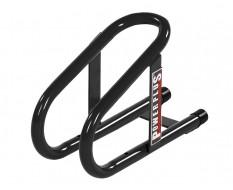 Radanschlag Anhänger Max. Reifenbreite 95 mm. - Schwarz für Moped und Motorroller 14,5 cm