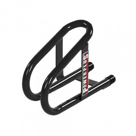 Radanschlag Anhänger Max. Reifenbreite 50 mm. - Schwarz für Moped und Fahrrad 10 cm