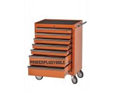 Werkstattwagen Orange 7 Schubladen mit einzelarretierung - Werkzeugwagen leer