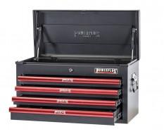 Werkzeugkiste Rot/Schwarz 4 Schubladen abschließbar mit Schlüssel