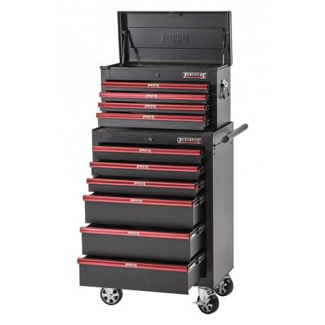 Werkstattwagen Set Rot/Schwarz 10 Schubladen - Werkzeugwagen Set