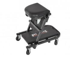 Werkstattsitz mit Rollen - Montageliege klappbar zum Sitz - Rollbrett 2in1