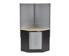 Eck Werkbank mit Werkstattschrank und Lochwand - Multiplex - Werkbank Ecklösung - Werkstatteinrichtung