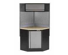Eck Werkbank mit Werkstattschrank,Hängeschrank und Lochwand - Multiplex - Werkbank Ecklösung - Werkstatteinrichtung