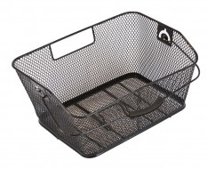 Fahrradkorb hinten abnehmbar 40 x 28,5 x 17,5 cm. für Gepäckträger - feinmaschig