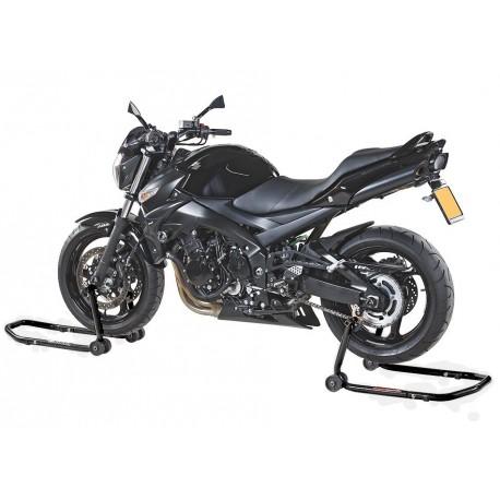 Motorradmontageständer Set 2 Stk. vorne + hinten - Schwarz