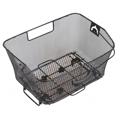 Fahrradkorb hinten abnehmbar 40 x 28,5 x 19 cm. für Gepäckträger - feinmaschig
